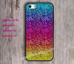rainbow Sparkle & Glitter Hakuna Matata iPhone 4/4s by charmcover, $7.99