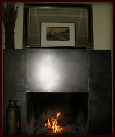 Custom Made Steel Fireplace Mantel