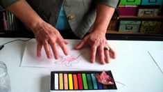How to Use Chalk Pastels to Add Color to a Drawing