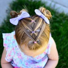 Little girl pigtail hair idea Baby Girl Hair, Toddler Girl Hair, Hair Style Girl, Toddler Makeup, Toddler Hair Dos, Baby Hairs, Hair Kids, Braids For Kids Hair, Easy Hairstyles