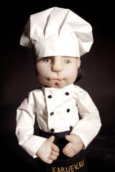Портретная кукла Повар - интерьерная кукла,авторская работа,авторская кукла
