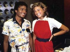 Michael Jacson with his first girl friend, Tatum O'Neal  blogger.com
