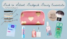 Back to School: Backpack Beauty Essentials