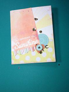 Sending you sunshine- watercolor-embossed- encouragement-sympathy card on Etsy, $3.50