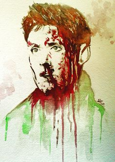 Supernatural Fan Art: Bloody!Dean (by kitty)