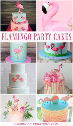 Fantastic Flamingo Party Cakes! #flamingo #party #cake