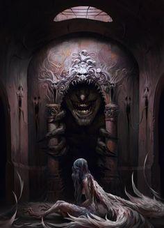 Fantasy Inspiration — Custody by Vadim Baydashnikov .You can find Dark fantasy and more on our website. Gothic Horror, Arte Horror, Horror Art, Horror Room, Dark Fantasy Art, Fantasy Artwork, Fantasy Hair, Fantasy Rooms, Fantasy Warrior