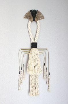 "Sale! Wall Hanging ""Forgotten Dream no.4"" One of a kind Handcrafted Macrame/Rope art"