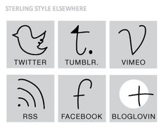 social media icons (sterling style)