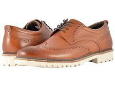 a621f53c2f090 Rockport Marshall Wingtip (Cognac Leather) Men's Shoes. Make a modern and  handsome update