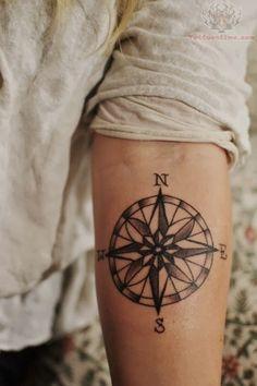 Men Tattoos Design: Men nautical compass tattoos ideas images