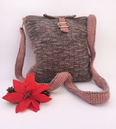 CHRISTAMAS SALE Grey/pink Shoulder Bag Made in by RiGaSisters