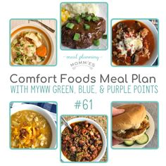 MyWW Friendly Meal Plan with Green, Blue, and Purple Points - Meal Planning Mommies Hearty Soup Recipes, Ww Recipes, Dinner Recipes, Healthy Recipes, Healthy Meals, Homemade Tartar Sauce, Weight Watchers Meal Plans, Meal Planning Printable, Free Meal Plans
