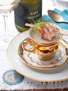 Kijk voor het recept op www.beproefd.nl : Gall & Gall 9 - 2013 Venkelsoep met coquilles