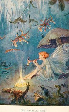 postcardiva postcard blog: MARGARET TARRANT Fairies Goblins Postcard Artist
