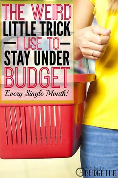What a shocking trick for budgeting success! This mom stays UNDER budget every month with this (so weird!!) hack. Have you ever tried this? Repin to save this money-saving tip!