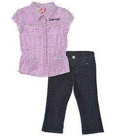"Akademiks ""Sweet Script"" 2-Piece Outfit (Sizes 12M – 24M) $9.99"