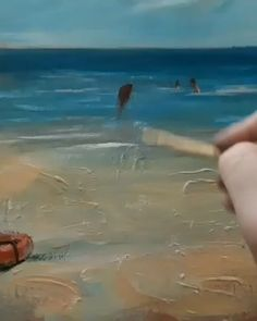 awesome oil painting work Tutorial little girl on beach Oil Painting Tips, Acrylic Painting Techniques, Painting Videos, Art Techniques, Painting Lessons, Seascape Paintings, Landscape Paintings, Painting People, Beach Art