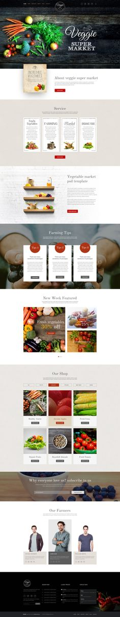 Veggie Super Market | Multipurpose PSD Template | ThemeForest