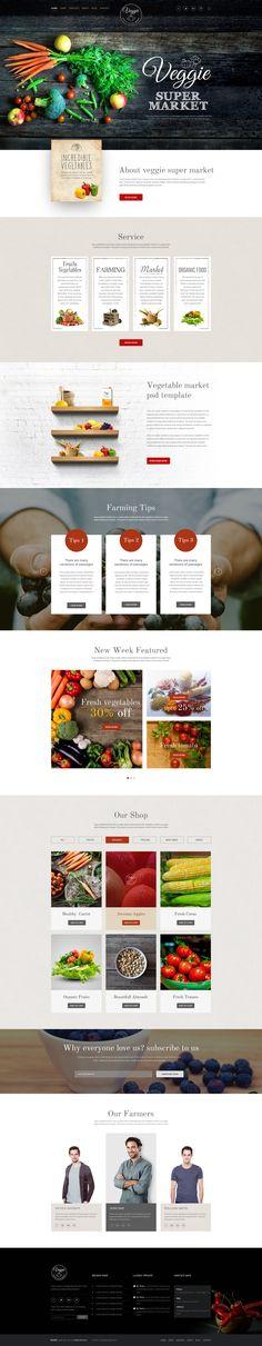 Veggie Super Market   Multipurpose PSD Template   ThemeForest