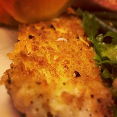 Pan-Fried Panko Crusted Talapia Rub with lemon juice. Season with lemon pepper and garlic powder. Add parm cheese and oregano to panko. Serve with rice pilaf. Pan Fried Tilapia, Crusted Tilapia, Steamed Tilapia, Fried Fish Recipes, Seafood Recipes, Salmon Recipes, Meat Recipes, Healthy Eating Recipes, Bon Appetit