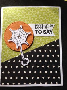 Handmade card made at right at home scrapbooking