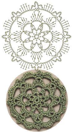 No.34 Starburst Medallion Lace Crochet Motifs / 스타버스트 모티브도안