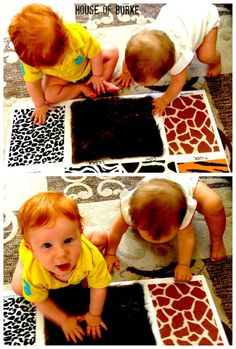 The Ultimate List of Baby Play Ideas from Fun at Home with Kids - would be a cute gift.. fun guessing game for toddler too