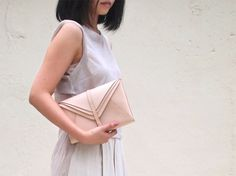 Personalized Multi Envelope Clutch Bag - Leather - Hand Stitched. $152.00, via Etsy.