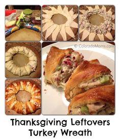 Thanksgiving Leftovers Turkey Wreath Recipe