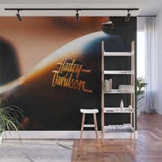 With our Wall Murals, you can cover an entire wall with a rad design - just line up the panels and stick them on. Rock Wall, Fabric Panels, Mild Soap, Second Floor, Wall Murals, Ladder Decor, Adhesive, Vibrant Colors, Wall Decor