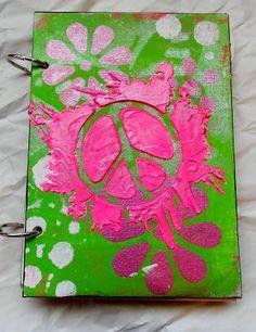 5x7 Peace sign junk journal by shycraftygirl