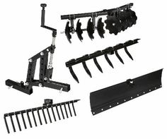 Grab this 5 Piece System by Impact Implements for UTVs and save! Garden Tractor Attachments, Atv Attachments, Farm Tools, Garden Tools, Landscape Rake, Yamaha Viking, Atv Trailers, Small Tractors, Tractor Implements