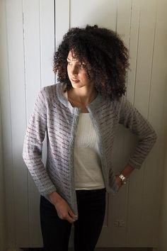 Classic Lines Cardigan Free Pattern by Alison Backus