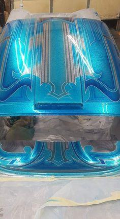 Pattern are nice Car Paint Jobs, Custom Paint Jobs, Custom Cars, Lace Painting, Air Brush Painting, Painting Patterns, Pinstripe Art, Roof Paint, Motorcycle Paint Jobs