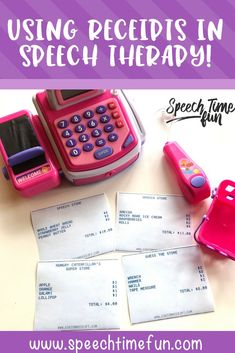 Using Receipts In Speech Therapy To Target A Variety Of Speech Goals