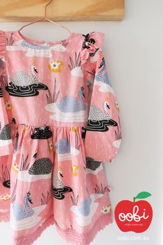 Dahlia Dress Blush Swan | Party Outfit for Girls | Oobi Girls Kid Fashion