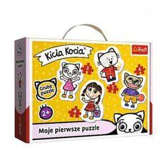 Baby Puzzle Wesoła Kicia Kocia z ulubionymi bohaterami książeczek o tym samym tytule. Babe, Lunch Box, Puzzle, Classic, Derby, Puzzles, Bento Box, Classic Books, Puzzle Games