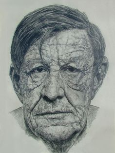 W.H. Auden portrait By David Hockney