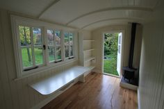 Shepherd's Hut - The Yorkshire Hut Company. Glamorous garden office idea or summer house.