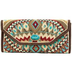 South west style beaded clutch
