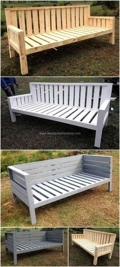Get yourself prepared for crafting another amazing and appealing reused pallets project. This is another mesmerizing bench construct by reusing wood pallets. This is designed for your comfort in the home and this plan will increase the grace of your area.