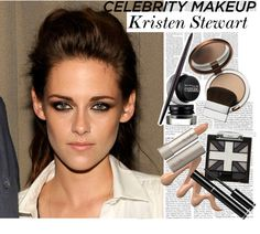 """""""Celebrity Makeup Look: Kristen Stewart"""" by hellinhere ❤ liked on Polyvore"""