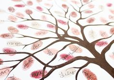 The Wedding Tree. Thumbprints form the leaves then sign your name over it! Cute for any special occasion.