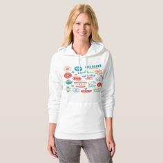 Beach Icons Womens Hoodie  $43.25  by spudcreative  - cyo customize personalize unique diy idea