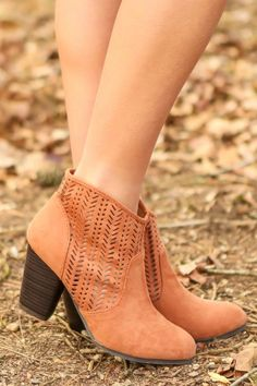 Hello Gorgeous! Must have, rust, laser cut booties! Want, need, love! The perfect pair of booties! Love!