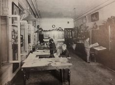 The design studio on the upper floor at Bolshaya Morskaya Street. Von Habsburg, Geza and Marina Lopato. Faberge: Imperial Jeweler. Washington, D.C.: Faberge Arts Foundation, 1993 (25, No. 5)