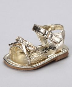 Take a look at this Gold Bow Sandal by Xeyes on #zulily today!