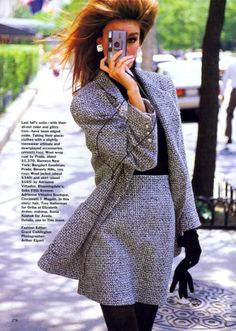 'Tweed Goes To Town' from………………….Vogue August 1991 feat Susan Holmes  *Love this!