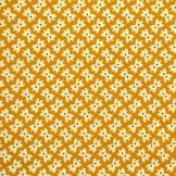 """Le tissu """"Soirée masquée"""" coloris Moutarde. Découvrez plus de tissus sur http://www.tissus-etc.fr/"""